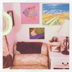 Art Wall and Reading Nook!!