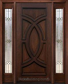 Front Door #entrance #wooddoor  #exteriordoorswithsidelights #exteriordoorswithglass Single Door Design, Home Door Design, Wooden Door Design, Door Design Interior, Main Door Design, Wooden Doors, Exterior Doors With Sidelights, Exterior Doors With Glass, Entry Doors