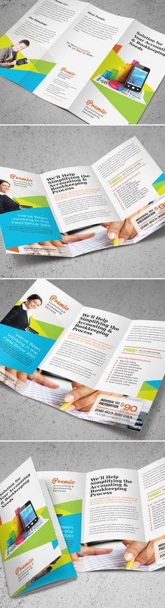Accounting & Bookkeeping Services Trifold Brochure on Behance