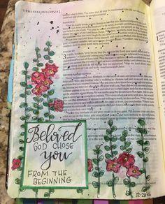 2 Thessalonians Bible Art Journaling by Journal Quotes, Journal Pages, Journal Art, Journals, Bullet Journal, Scripture Art, Bible Art, Bible Verses, Bible Journaling For Beginners