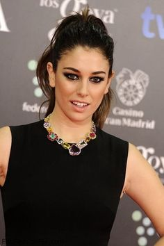 Gorgeous Blanca Suarez with smokey eyes