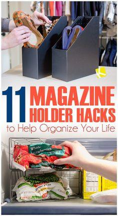 11 Magazine Holder Hacks to Help Organize Your Life