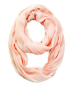 Look at this #zulilyfind! Apricot Silk-Blend Infinity Scarf by Look By M #zulilyfinds