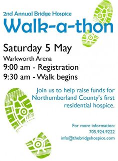 The 2nd Annual Bridge Hospice Walk-a-thon, Sat May 5
