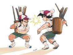 Vegeta and Goku Goku And Vegeta, Akira, Dragon Ball Z, Rest, Fictional Characters, Dragons, Dragon Dall Z, Fantasy Characters