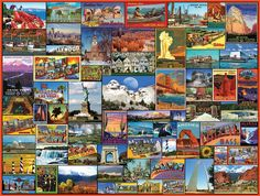 Amazon.com: White Mountain Puzzles Best Places In America - 1000 piece Jigsaw…