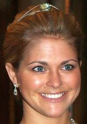 Tiara Mania: Aquamarine Bandeau worn by Princess Madeleine of Sweden