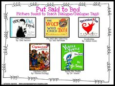 Great mentor texts to teach dialogue! Plus tons of great lessons and ideas for teaching dialogue - check our her 'part post for an awesome way to incorporate comic strips! Writing Mentor Texts, Writing Traits, Writing Strategies, Narrative Writing, Teaching Writing, Writing Ideas, Teaching Ideas, Dialogue Writing, 3rd Grade Writing