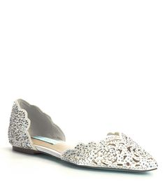 14f724878c3 Blue by Betsey Johnson Lucy Rhinestone-Embellished Satin d Orsay Flats