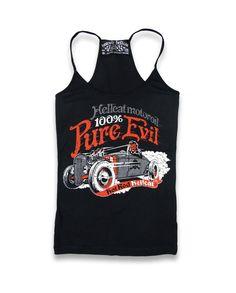 Hotrod Hellcat Damen DEVIL ROD Tank Tops.Tattoo,Biker,Pin up,Custom Style