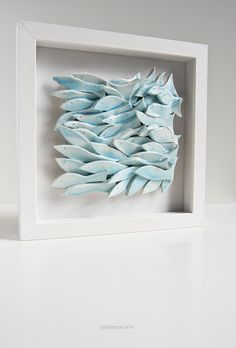 Wonderful wall tile School of Fish sculptural ceramic artwork white light blue nautical wall decor seaside home decor wall hanging. via Etsy. Could be translated to paper The post wall . Seaside Home Decor, Coastal Decor, Nautical Wall Decor, Wall Art Decor, Nautical Artwork, Ceramic Pottery, Ceramic Art, Ceramic Decor, Diy Fimo
