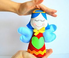 Angel Christmas Ornament Plush toy Angel by Mariapalito on Etsy