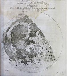 Johannes Hevelius, Selenographia (Danzig, 1647), Gibbous Moon plate.
