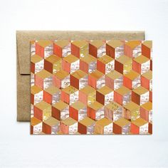 foil french tile melon card