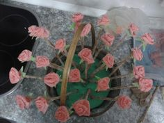 Tarta chuches rosas