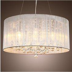 Fabric Pendant Lights Uk Modern Crystal ceiling pendant lights in