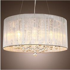 Lamp: Light In The Box Modern Crystal Pendant Light In Cylinder Shade  Pendant Light Chandeliers Lighting For Bedroom Living