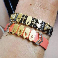 KEEP Collective LOVE pave chevron hematite coral mesh gray edgy initials  gold cuff black bling equation leather design arm-candy arm-swag fashion mompreneur charms accessories reversible charm bracelet gift holiday birthday SAHM Direct sales mom style Christmas anniversary birthday  Personalized jewelry from KEEP Collective with Sarah Shult Comment or message me for more info, questions, help ordering or personalizing a design for you.