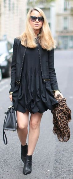 Pardon My Obsession All Black Touch Of Leopard Fall Inspo