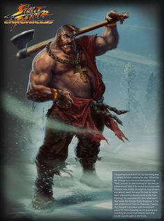 Street Fighter Chronicles Mockups - By Arman Akopian - Zangief Holding An Axe http://coolpile.com/media-magazine/life-after-street-fighter-chronicles-character-mockups-by-arman-akopian/  Character Mockups, Cool, Drawings, Gaming, Nintendo, Real Life Mockups, Street Fighter, Capcom