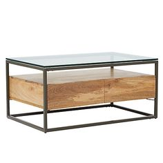 Buy west elm Industrial Storage Box Frame Coffee Table Online at johnlewis.com