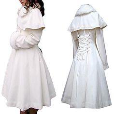 Long Sleeve White Velvet Princess Lolita Coat – USD $ 139.99; ohhhhhh my gooooosh