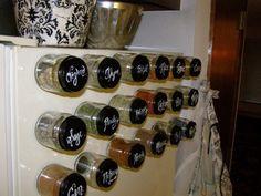 Frascos de vidrio para guardar especias