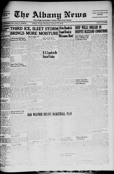 Weekly newspaper from Albany, Texas that includes local, state and national news along with advertising.
