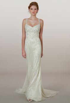 The Latest Liancarlo Wedding Dresses- yikes its all beading!! I think i like it