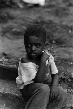 Little boy, Chicago, 1954. #photography #photojournalism