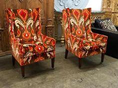 Stunning Pair of Functional Wingback Chairs   Dealer #033  $995 Pair  Lucas Street Antiques Mall 2023 Lucas Dr.  Dallas, TX 75219  Like us on Facebook: https://www.facebook.com/lucasstreetan
