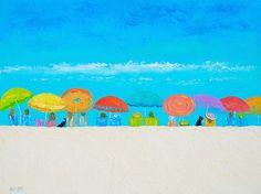 Those Lazy Days of Summer!  #beachcanvasart #coastalart #beachart #beachpaintings #tropicaldecor #beachhousedecoratingideas #bathroomwallart