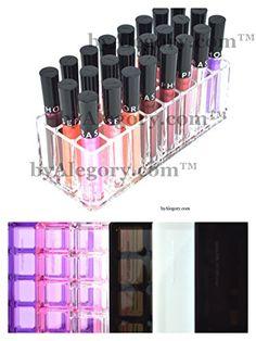 Acrylic Lip Gloss Organizer & Beauty Care Holder - 24 Space Storage byAlegoryTM byAlegoryTM http://www.amazon.ca/dp/B00IM0FSCA/ref=cm_sw_r_pi_dp_fFKIub0NS0HJZ