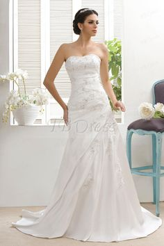 Attractive A-line/Princess Sweetheart Taline's Bridal Gown : Tbdress.com