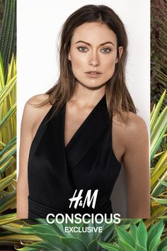 Halterneck jumpsuit in sturdy satin and wool with a bare back. | H&M Conscious Exclusive