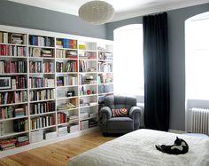 Gorgeous bedroom bookcase!