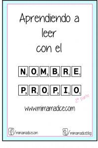 www.mimamadice.com Aprender a leer con el nombre propio Montessori, Name Activities, School 2017, Preschool Education, Pre Writing, Teacher Tools, Home Schooling, Word Work, Kids Learning