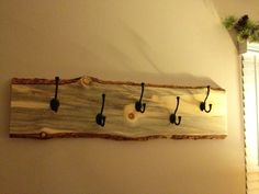 Live edge coat rack - by alumitim @ LumberJocks.com ~ woodworking community