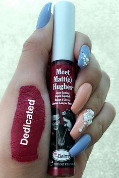 The balm liquid lipstick dedicated swatch