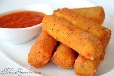 Homemade Mozzarella Sticks with Marinara