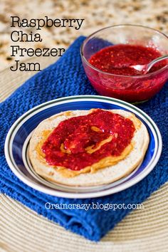 Grain Crazy: Raspberry Freezer Chia Jam. Make in the blender so fast and easy no cooking involved. So Good!