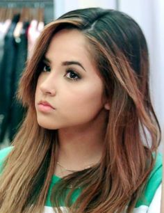 Becky G  | Becky G Straight Dark Brown, Medium Brown Flat-Ironed, Two-Tone ...