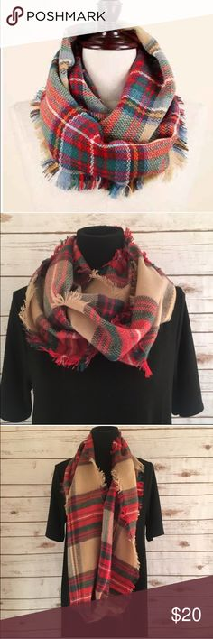 """Tartan plaid infinity scarf Super cozy infinity scarf! 100% acrylic and very soft. Perfect fall and winter accessory- 13.5"""" wide and 31.5"""" long. Comes brand new in package Accessories Scarves & Wraps"""