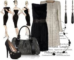 Balenciaga Textured Dress w/ Chloe coat & Burberry bag
