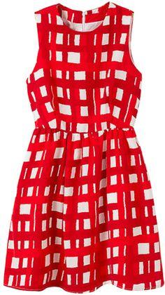 Romwe Check Print Zippered Sleeveless Dress on shopstyle.com