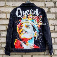 Painted Denim Jacket, Painted Jeans, Painted Clothes, Hand Painted, Levis Jean Jacket, Denim Jacket Men, Denim Jeans, Men Shorts, Denim Jackets