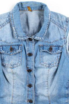 Denim Button Up, Button Up Shirts, Denim Jackets, Vintage Denim, Jeans Size, Vintage Outfits, Vest, Pants, Clothes