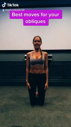 #obliques Fitness Workouts, Gym Workout Videos, Abs Workout Routines, Fitness Workout For Women, Yoga Fitness, At Home Workouts, Fitness Tips, Full Body Gym Workout, Butt Workout