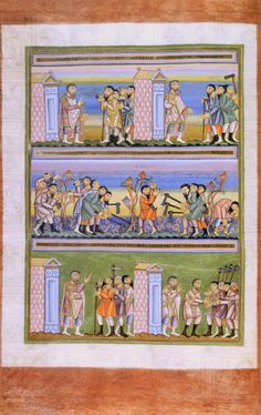 Parable of the Workers in the Vineyard - Bing Images Medieval Books, Medieval Art, Medieval Dress, Sunday School, Art School, School Ideas, Miracles Of Jesus Christ, Parables Of Jesus, The Good Shepherd