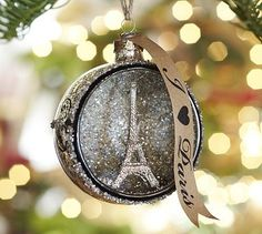 Birthday gift suggestion..hint hint  Paris Orb Glass Ornament #potterybarn